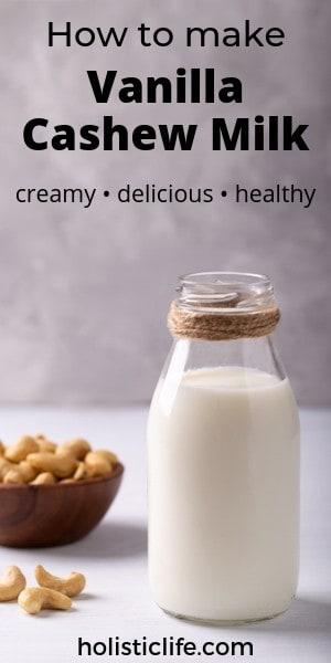 How to make vanilla cashew milk